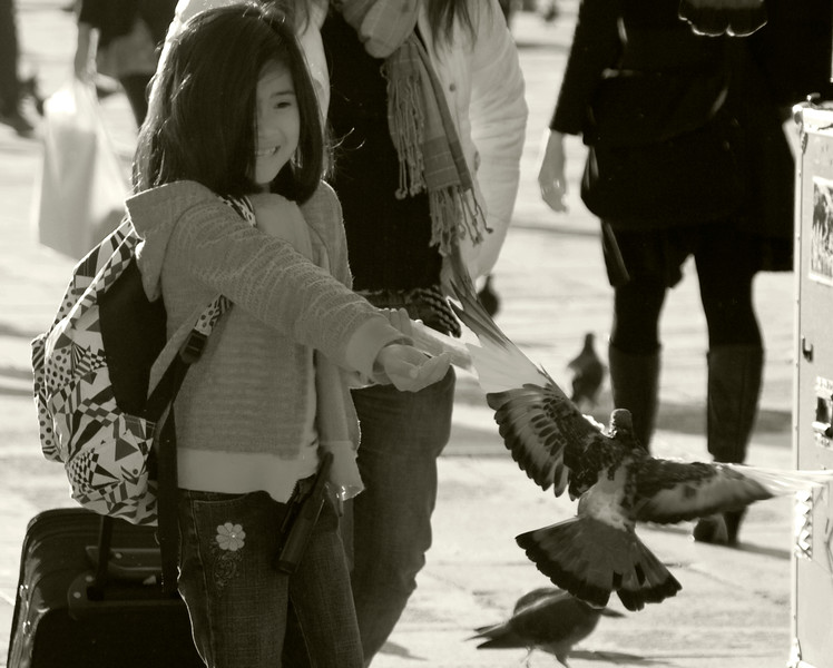 GIRL AND DOVE